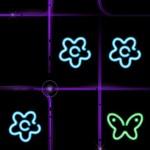 Tic Tac Toe Glow spring theme