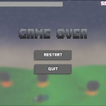 Fighting with Humans game over