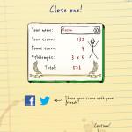 Hangman Hero result screen
