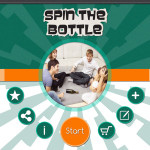 Spin the Bottle start screen