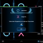 Tic Tac Toe Glow result screen