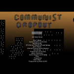 communist dropout menu